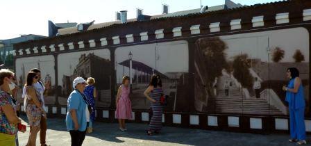Граффити во дворе таганрогского музея