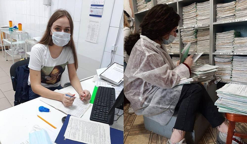 Волонтеры Таганрога начали помогать в поликлиниках