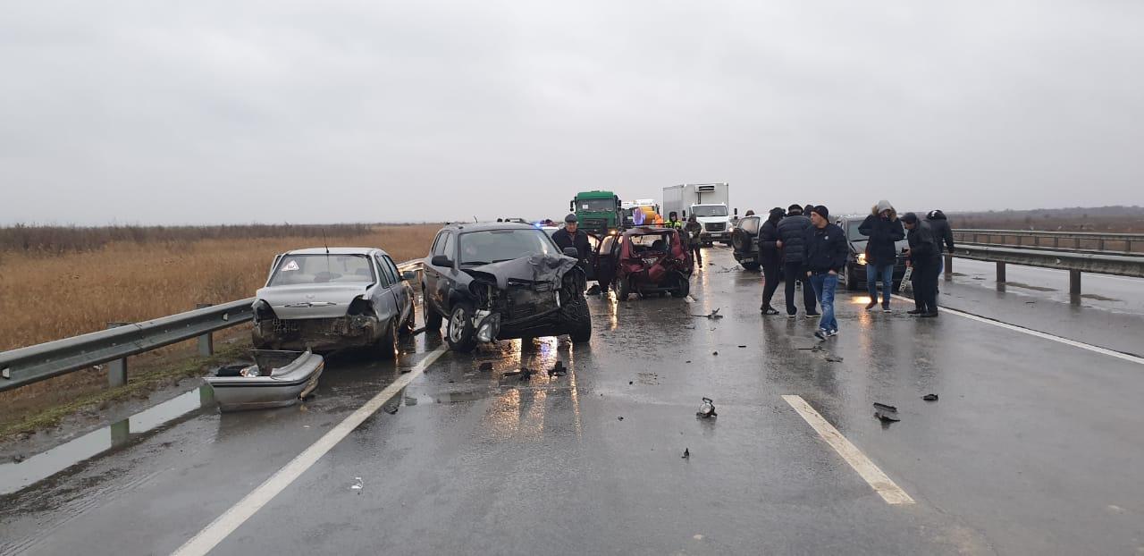 В Ростовской области произошла массовая авария на трассе