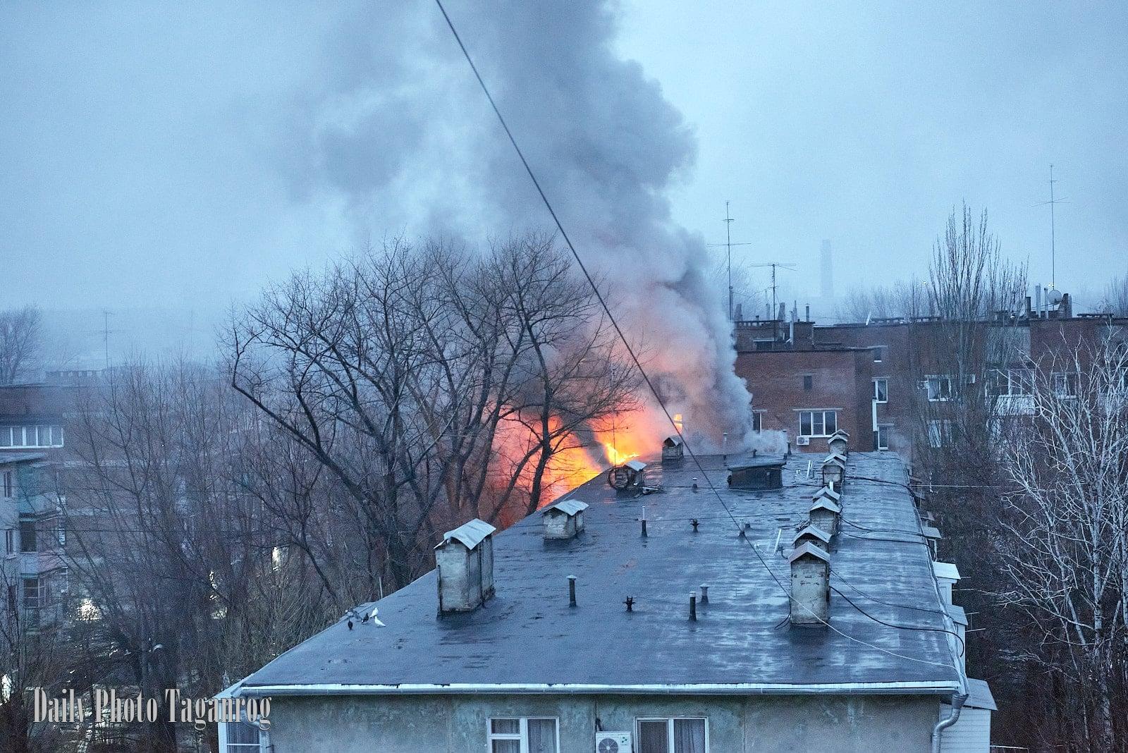 В Таганроге горела пятиэтажка на ул. П. Тольятти