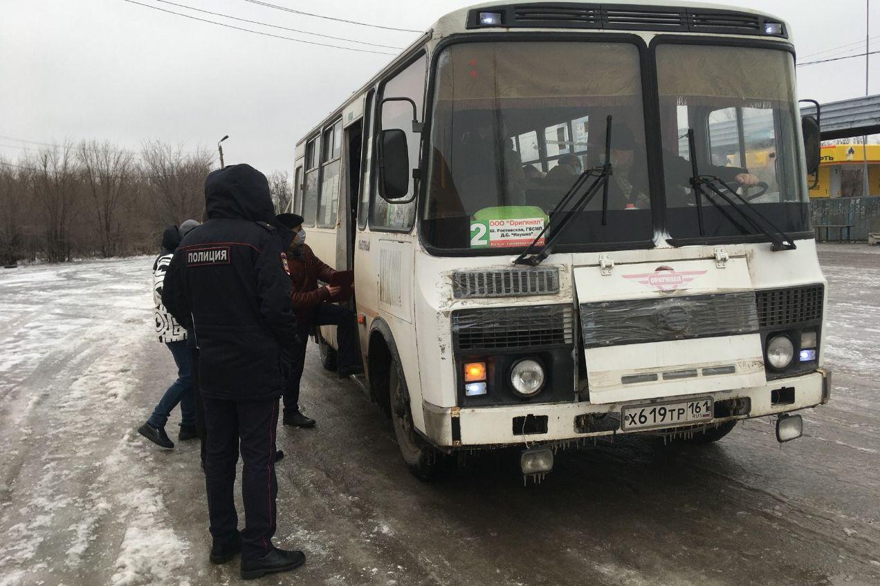 На Дону оштрафованы десятки пассажиров без масок