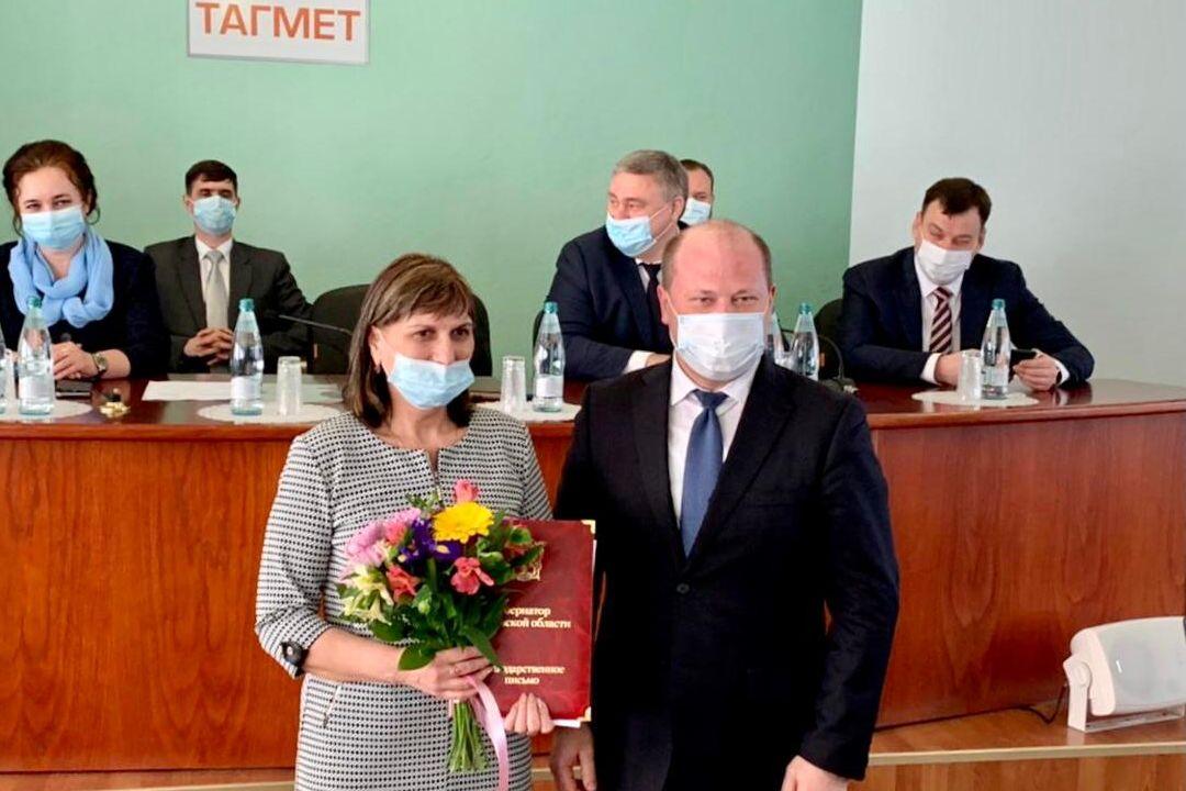 В Таганроге поздравляли работников ТАГМЕТа