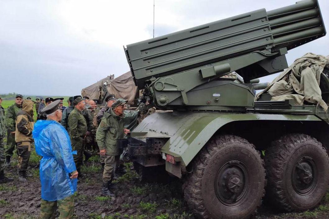 Казаки Таганрогского округа стреляли из гранатометов