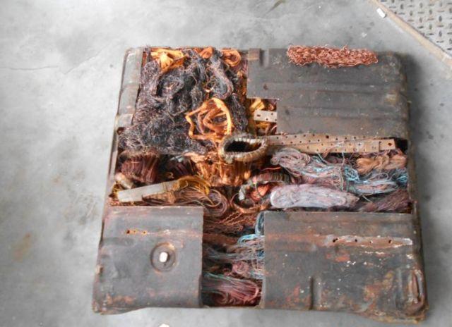 На границе области задержали украинца с металлоломом