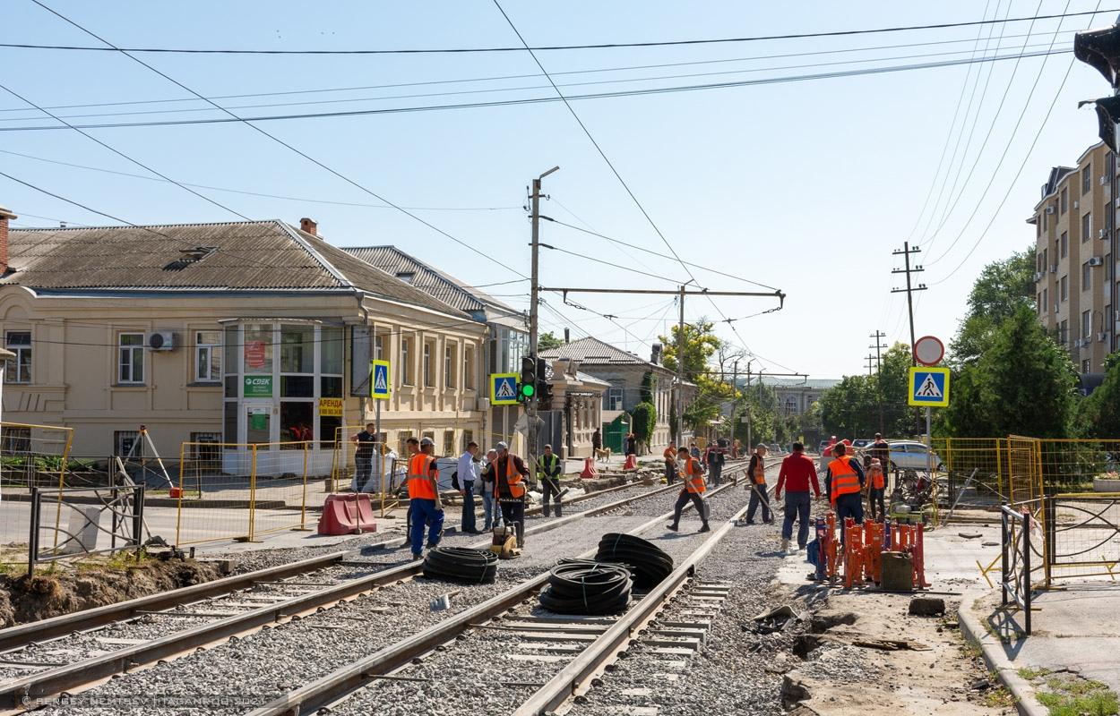 В Таганроге завершается первый этап реконструкции трамвайных путей