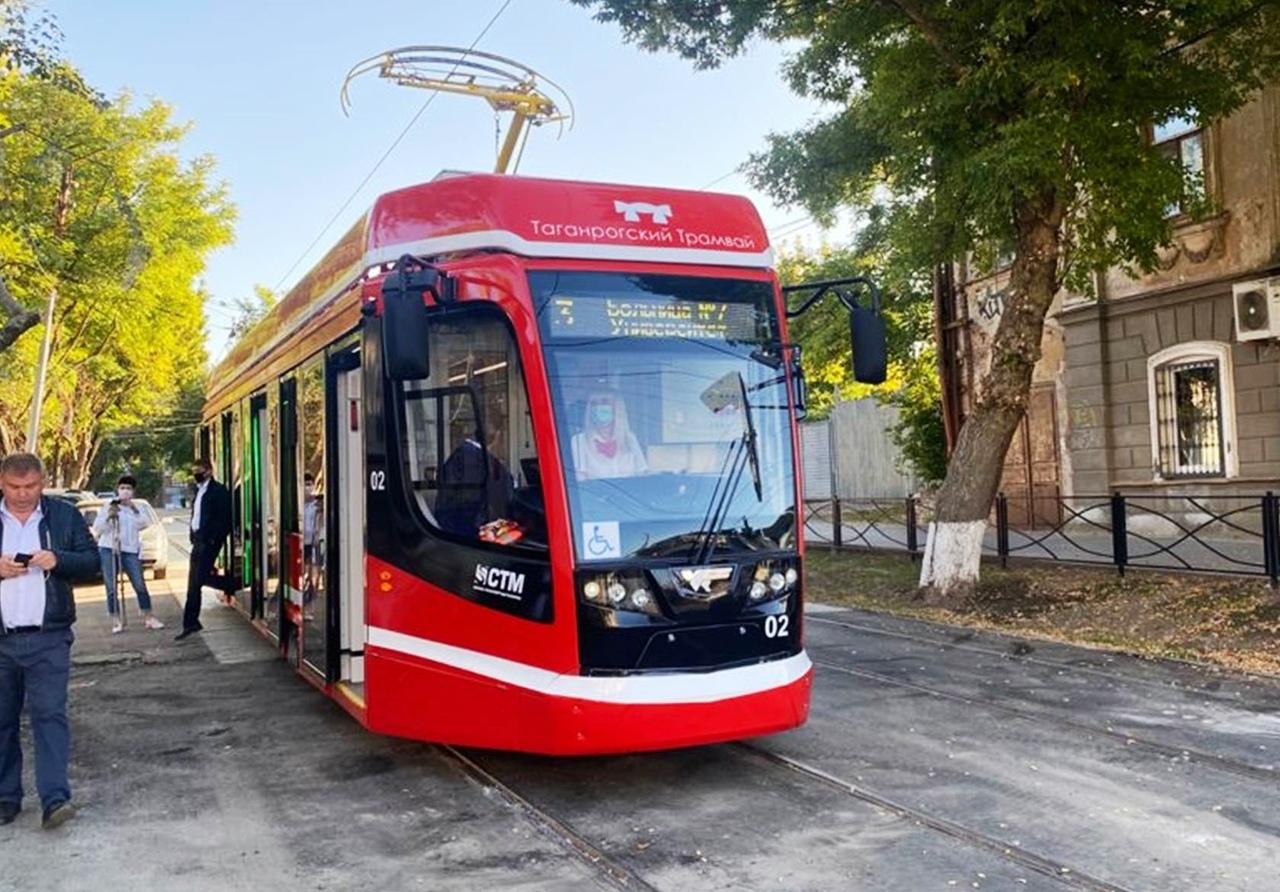 Сегодня в Таганроге новые трамваи вышли на маршруты
