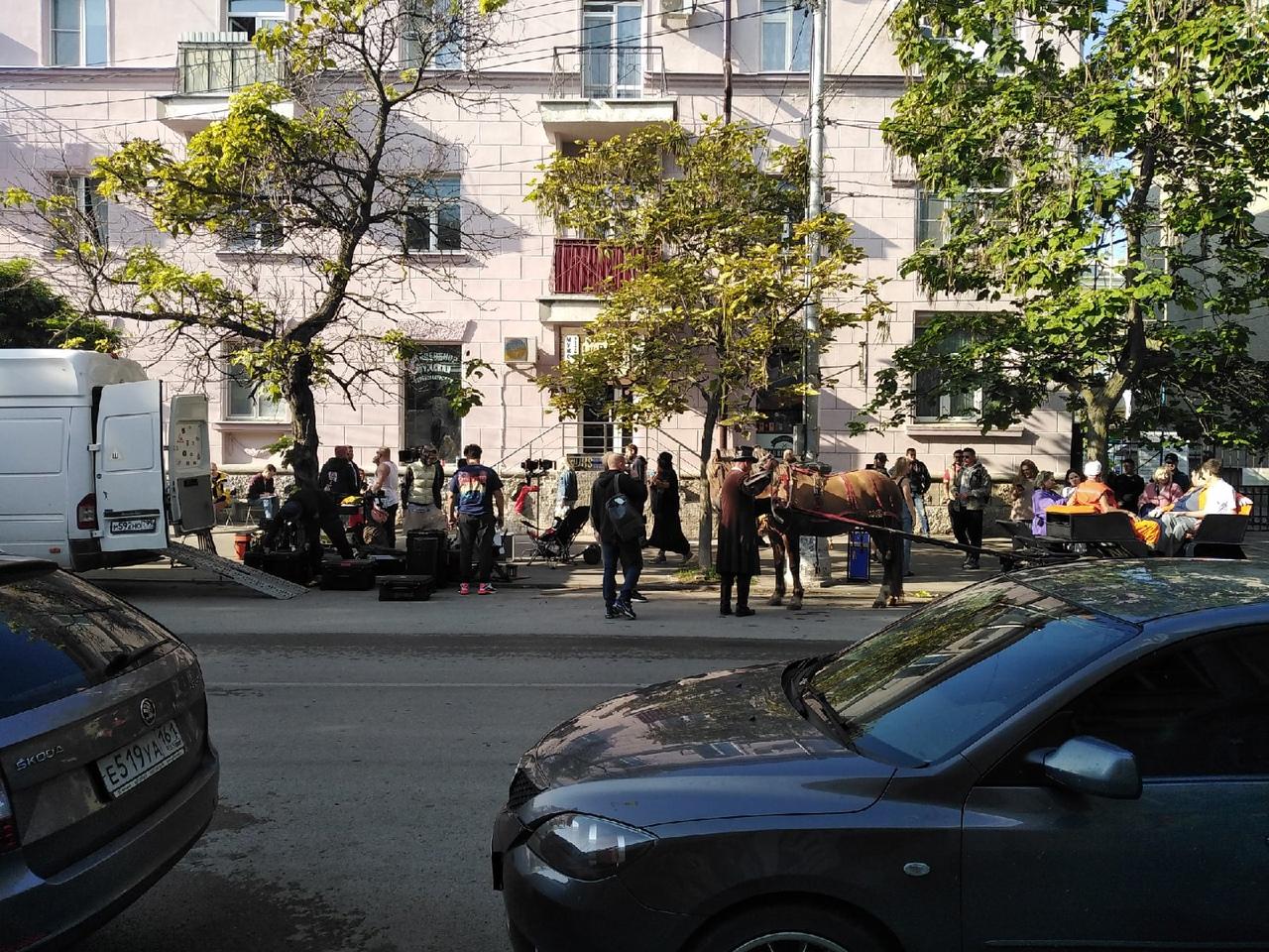 В Таганроге снимают кино — движение в центре ограничат