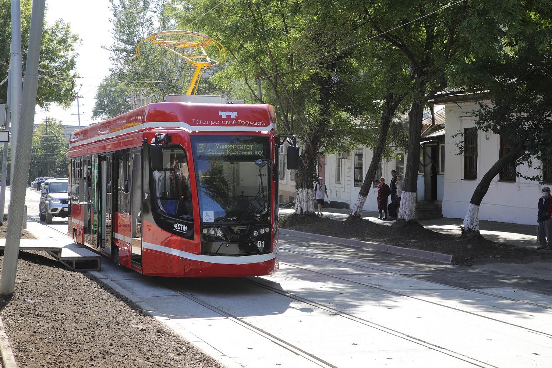 В Таганроге еще два новых трамвая вышли на маршрут