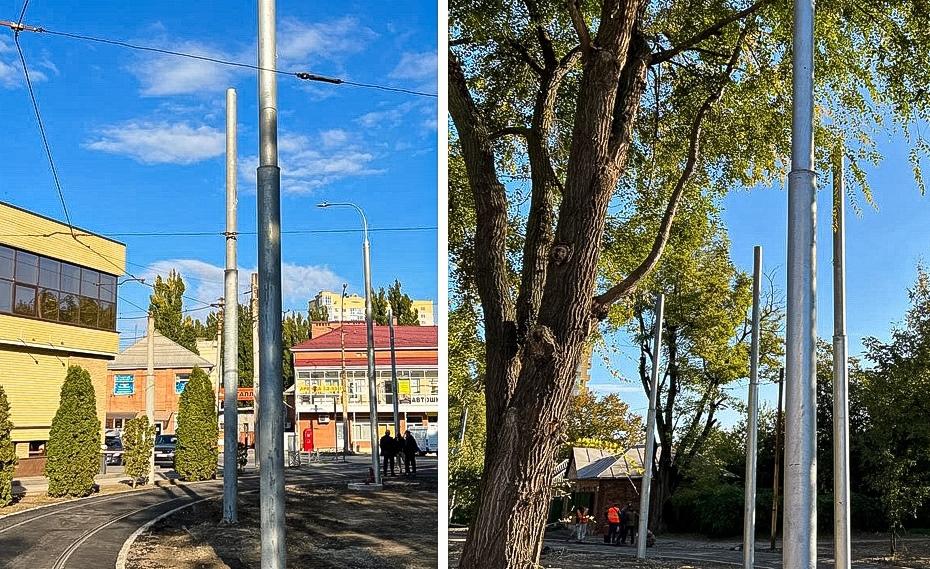 В Таганроге установили 4 опоры для новых светильников